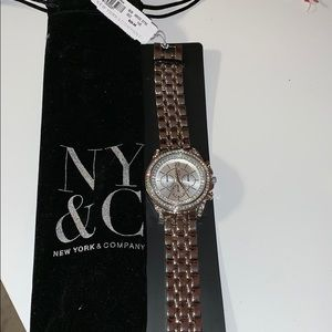 NY&Co silver watch NWT